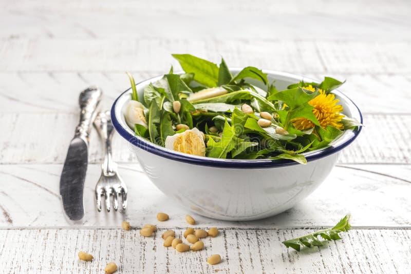 Salade fra?che de pissenlit photographie stock libre de droits