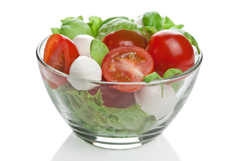 Salade in geïsoleerdea kom royalty-vrije stock foto