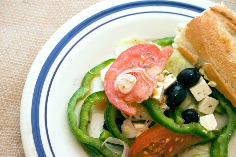 Download Salade grecque image stock. Image du croustillant, mangez - 736231