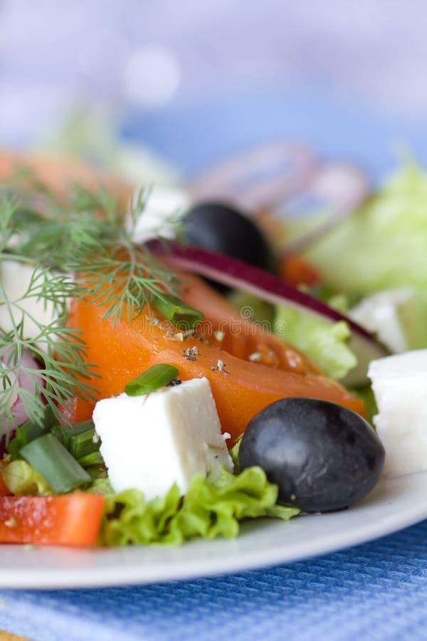 Salade grecque saine image libre de droits