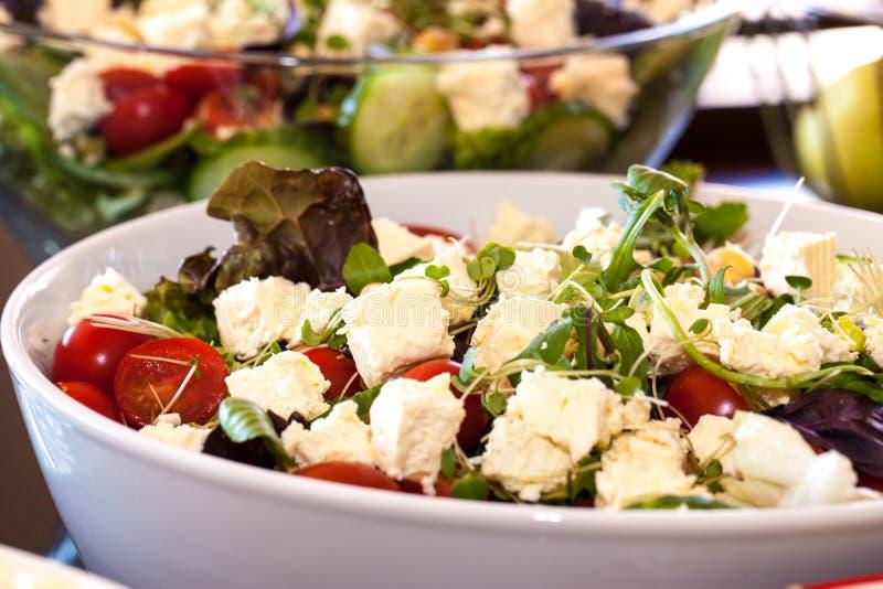 Salade grecque saine fraîche image stock