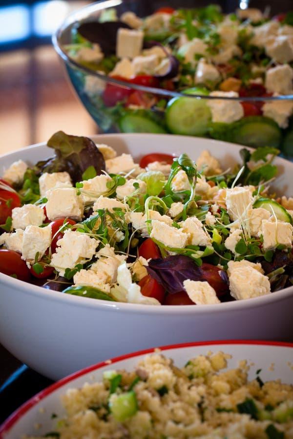 Salade grecque saine fraîche photographie stock libre de droits