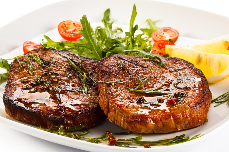 Bifteks grillés photo stock