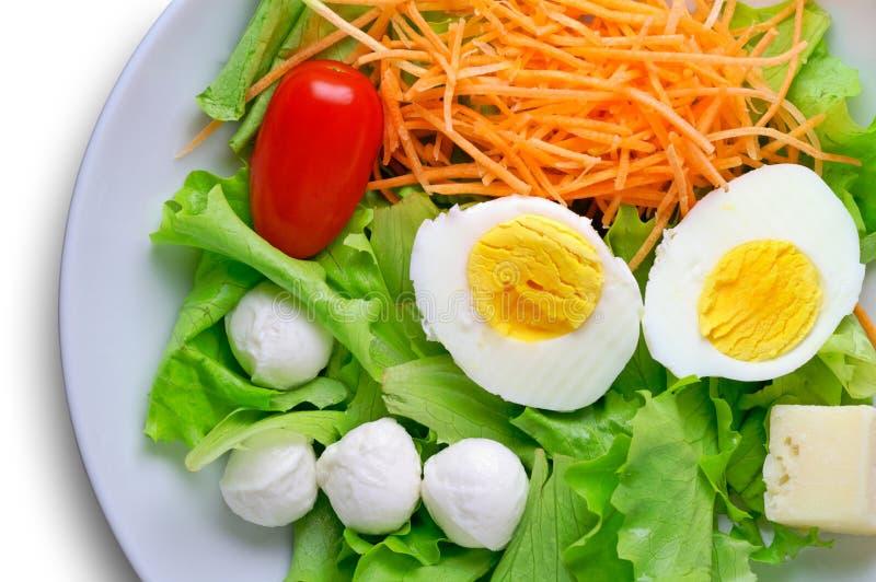 Salade - hoge hoekmening royalty-vrije stock afbeelding