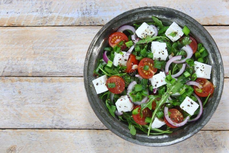 Salade met arugula stock fotografie