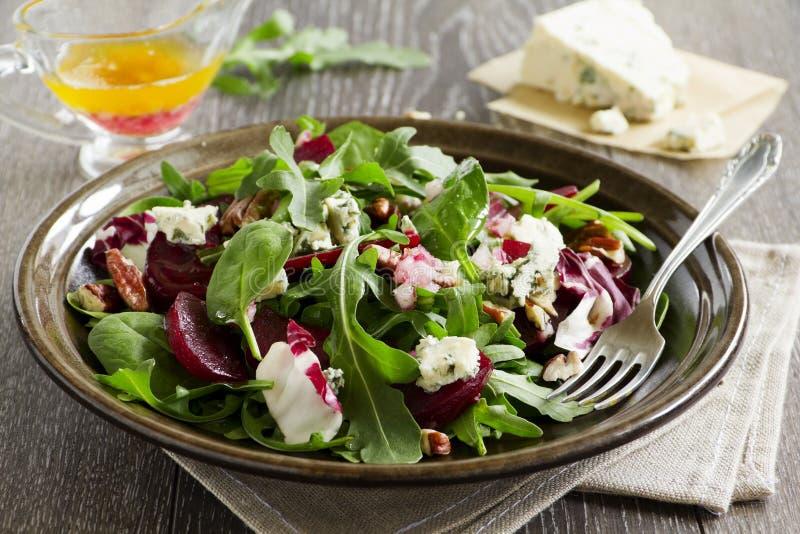 Salade met biet, royalty-vrije stock foto's