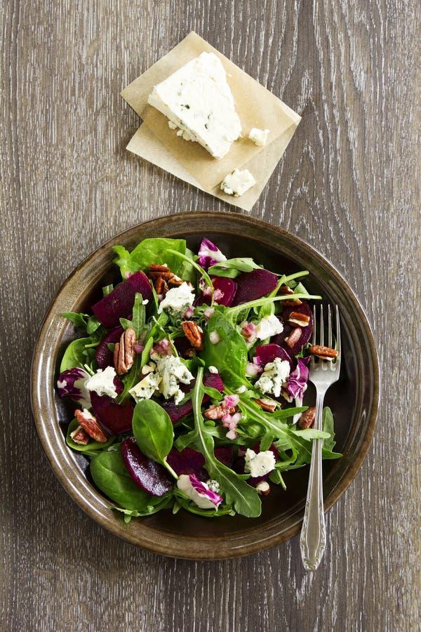Salade met biet, stock afbeelding