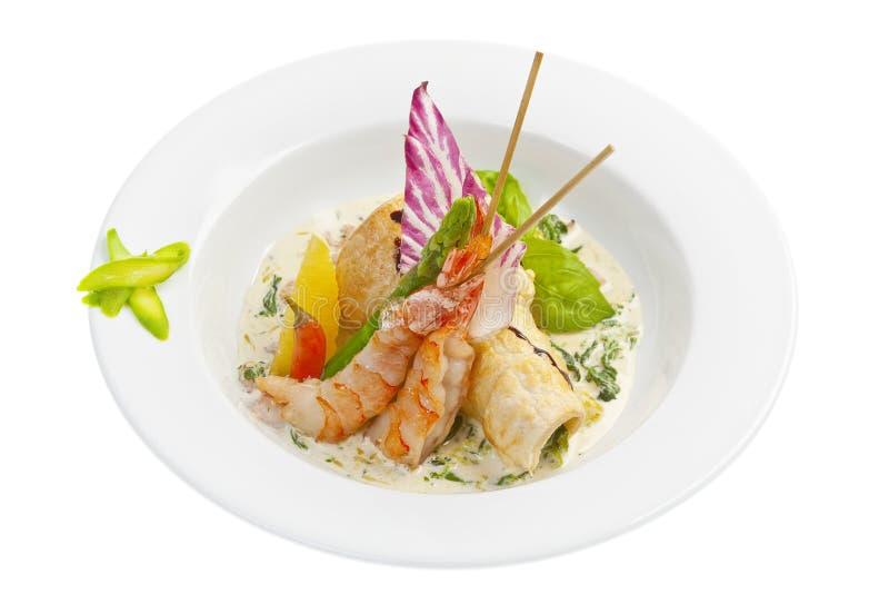 Salade Met Garnalen Stock Foto