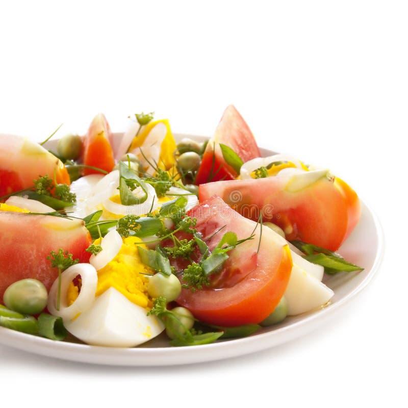 Salade met tomaten en eieren royalty-vrije stock fotografie