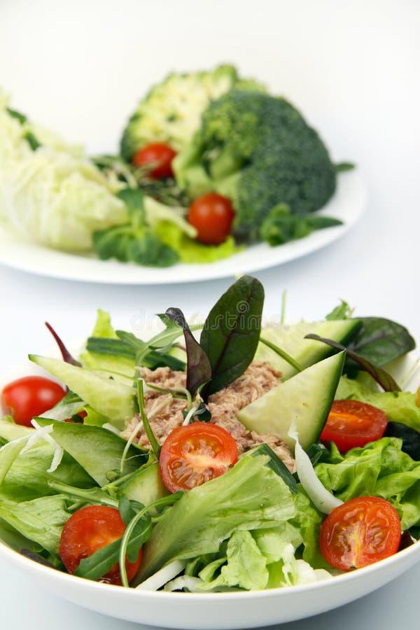 Salade met tonijn en groente royalty-vrije stock fotografie