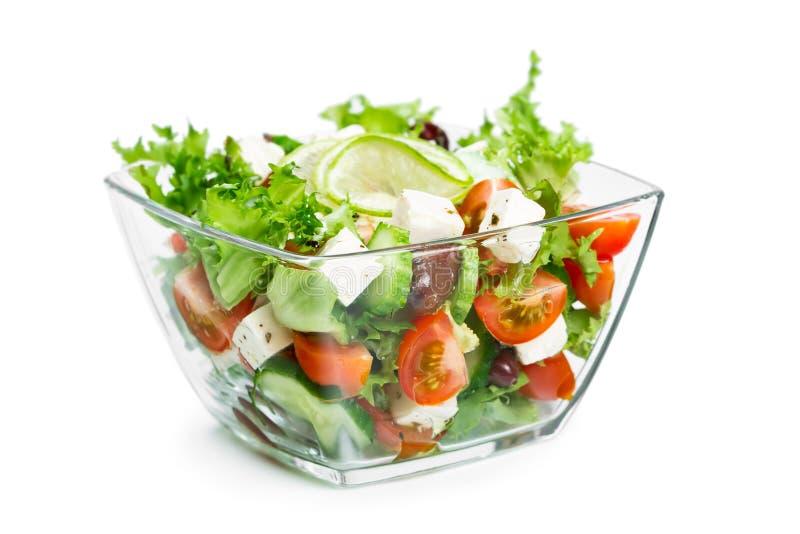 Salade met verse groenten royalty-vrije stock fotografie
