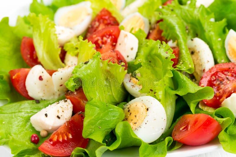 Salade met verse tomaten stock afbeeldingen
