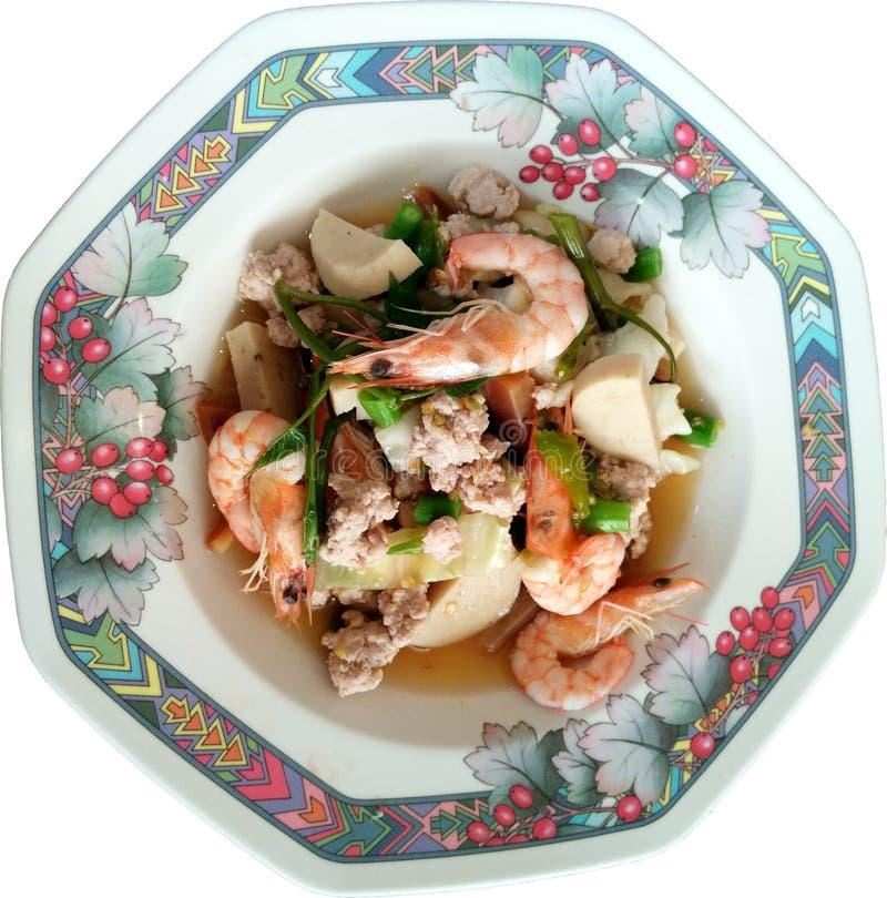 Salade mixte épicée de style thaïlandais images stock