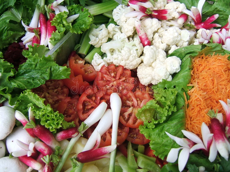 Salade multicolore photographie stock libre de droits