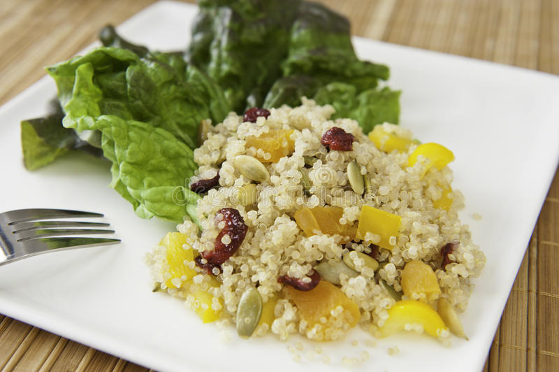 Salade nutritive de quinoa photo stock
