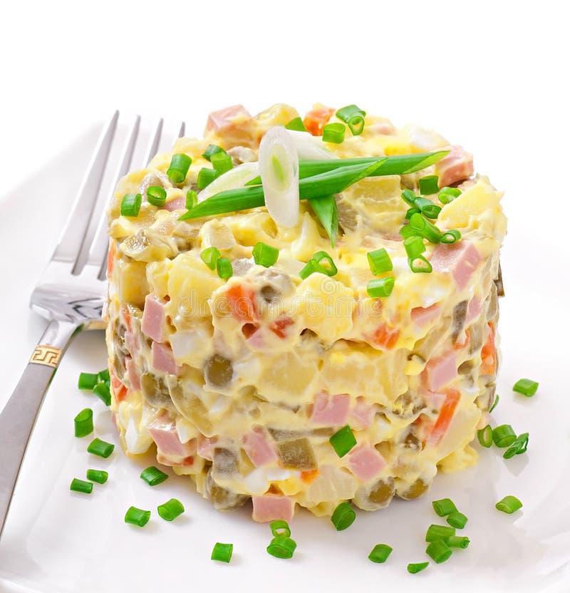 Salade Olivier image libre de droits