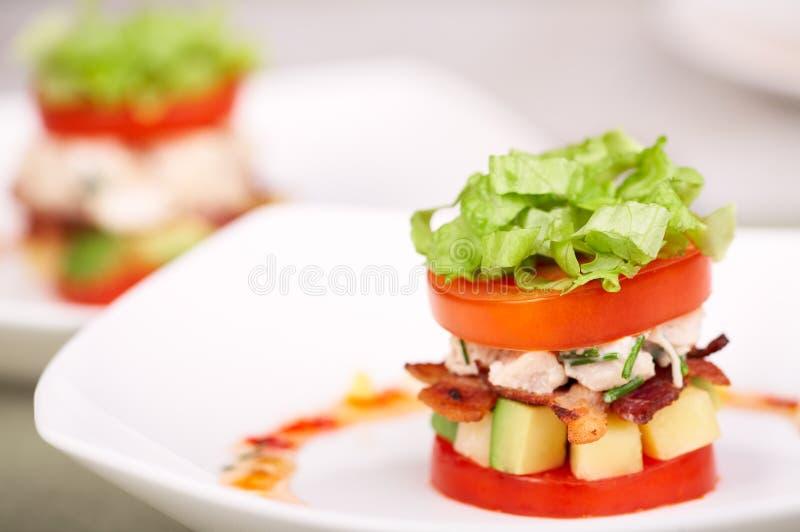 Salade ou apéritif délicieuse photographie stock libre de droits
