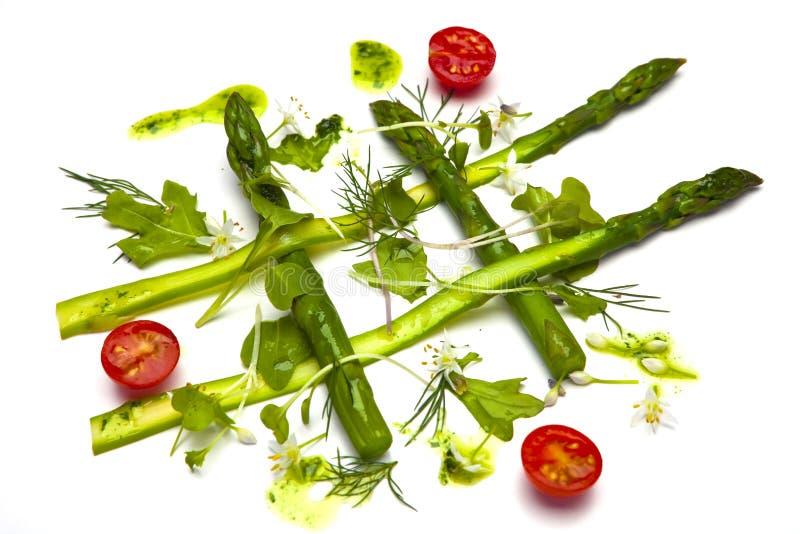 Salade saine d'asperge images libres de droits
