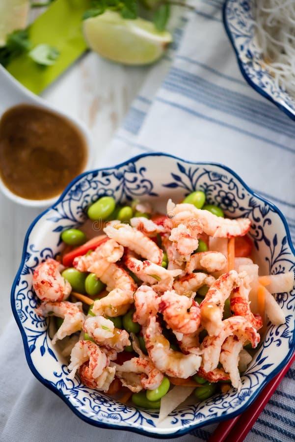 Salade saine de style asiatique photo stock