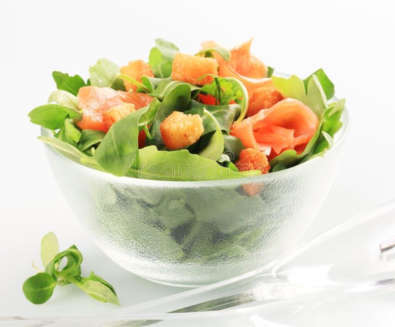 Salade saumonée image libre de droits