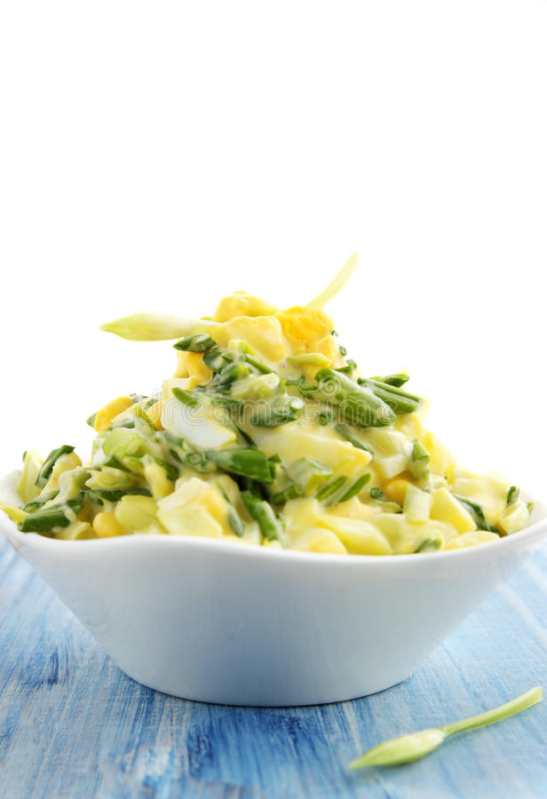 Salade sur le fond blanc photos stock