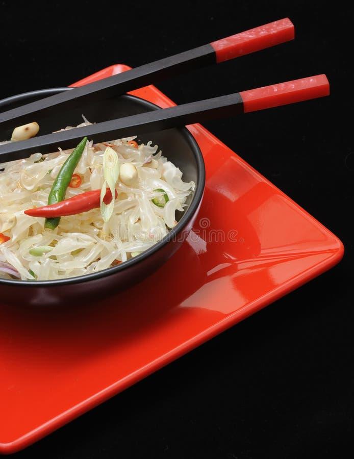 Salade thaïe de pamplemousse frais photo libre de droits