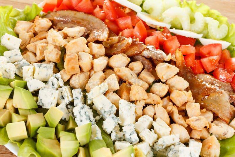 Salade traditionnelle de Cobb d'Américain photographie stock
