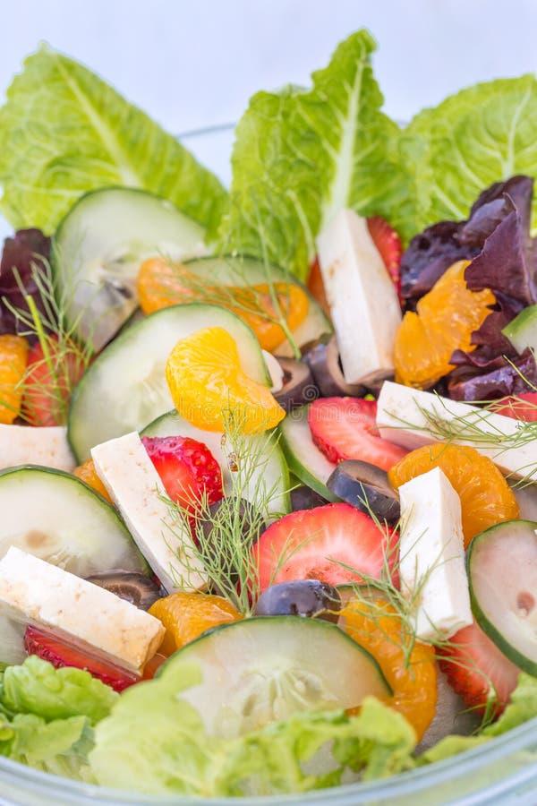 Salade tropicale d'été images stock