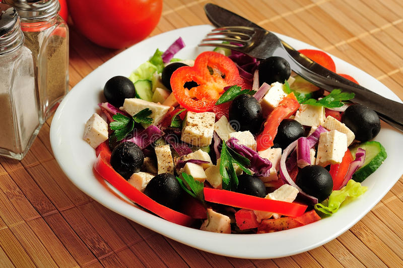 Download Salade végétale photo stock. Image du manger, laitue - 45360318
