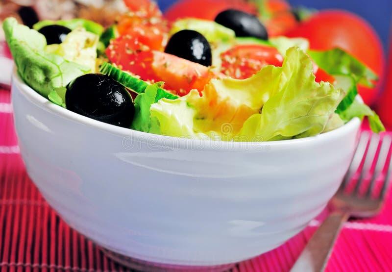 Download Salade végétale photo stock. Image du origan, closeup - 45360400