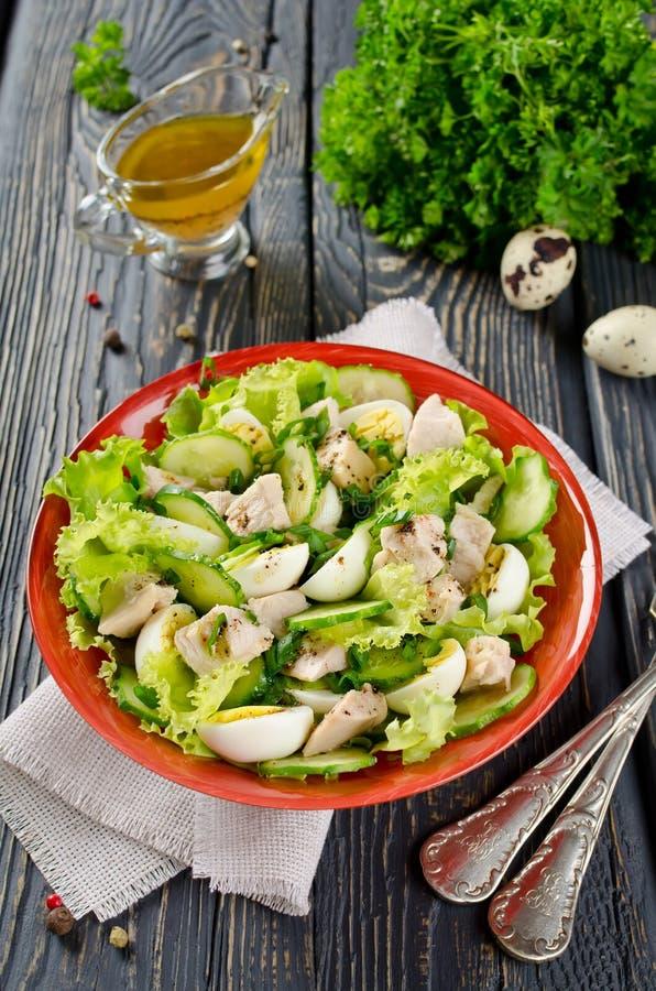 Salade végétale avec le foie de morue images libres de droits