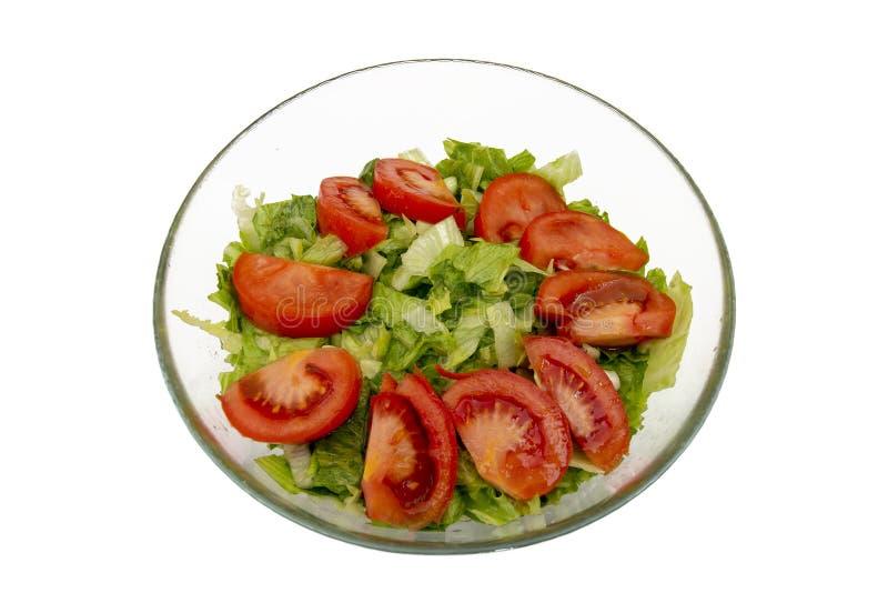 Salade végétale dans une cuvette photographie stock libre de droits