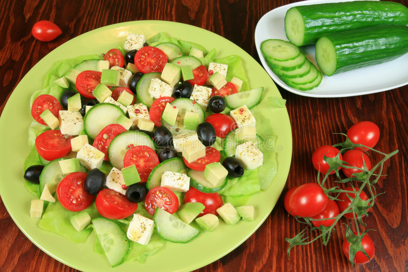 Salade végétarienne photographie stock