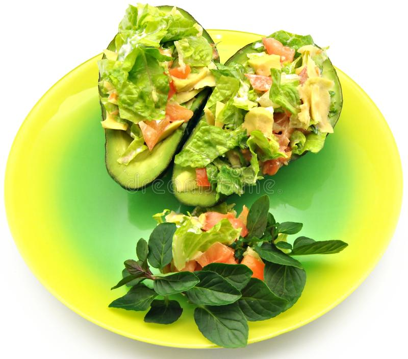 Salade van avocado's stock fotografie