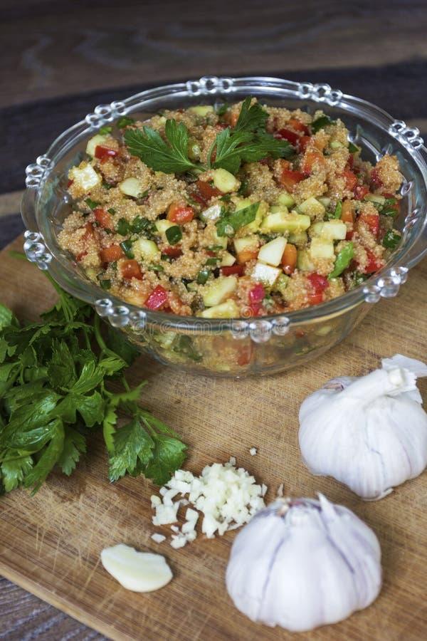 Salade van de gluten de vrije amarant royalty-vrije stock fotografie
