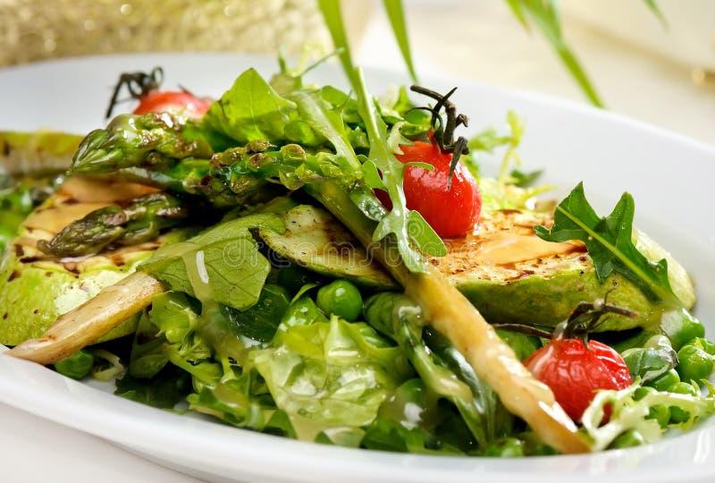 Salade van geroosterde courgette. royalty-vrije stock foto