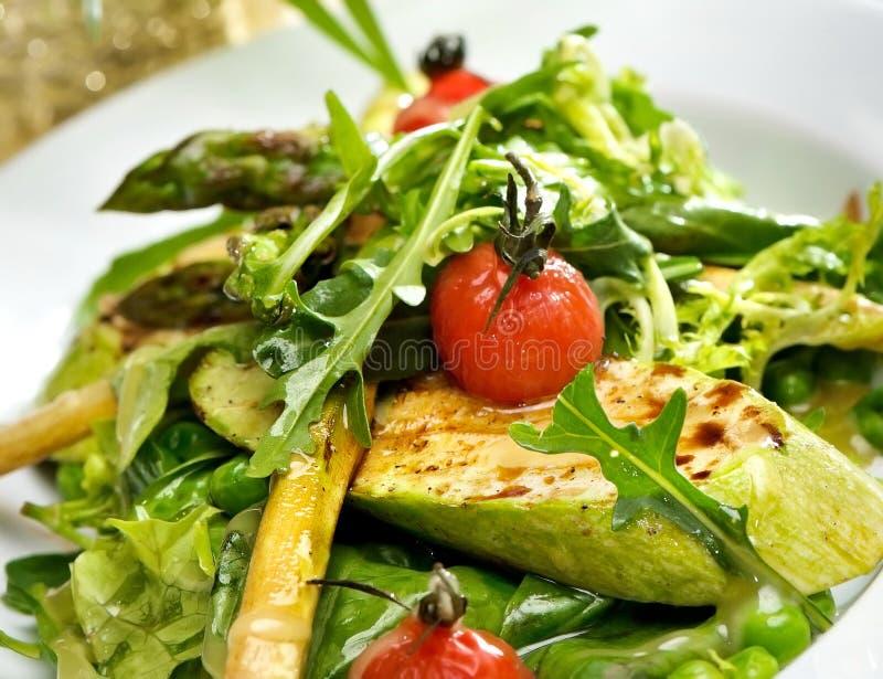 Salade van geroosterde courgette. royalty-vrije stock fotografie