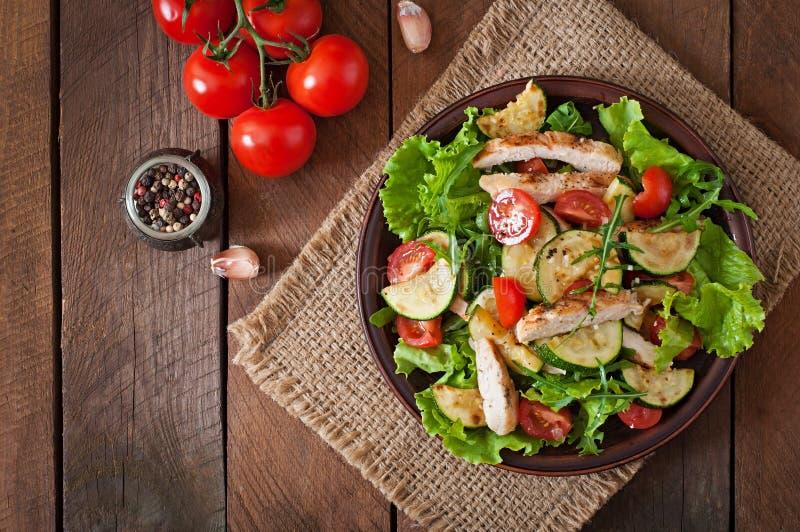 Salade van kippenborst royalty-vrije stock afbeelding