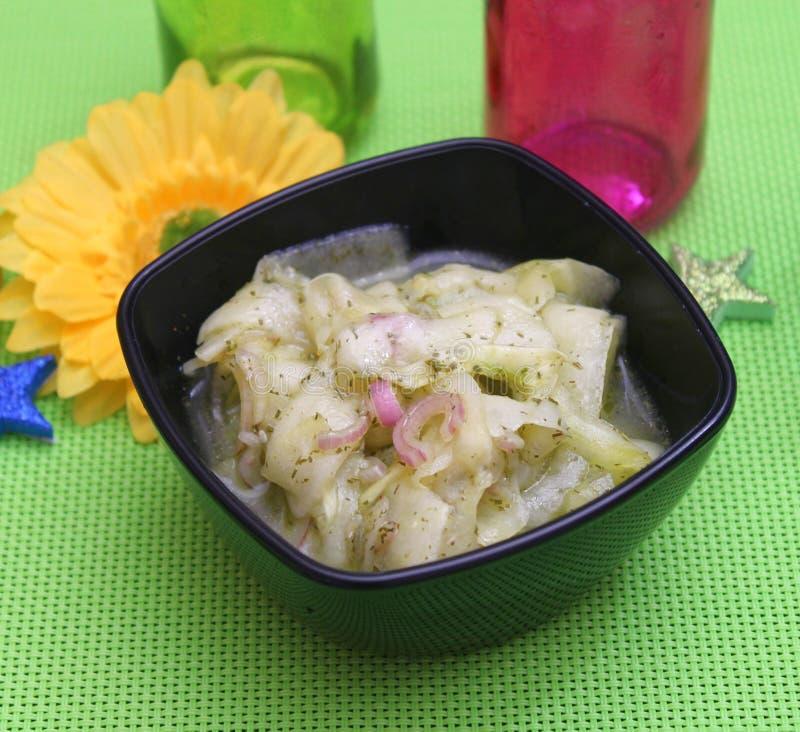 Salade van komkommer royalty-vrije stock foto