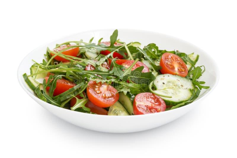 Download Salade Van Ruccola, Kersentomaten En Komkommer Stock Afbeelding - Afbeelding bestaande uit salade, dieet: 29505631