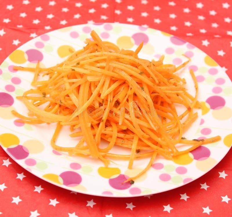 Salade van wortelen royalty-vrije stock foto's