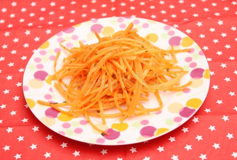Salade van wortelen royalty-vrije stock afbeeldingen