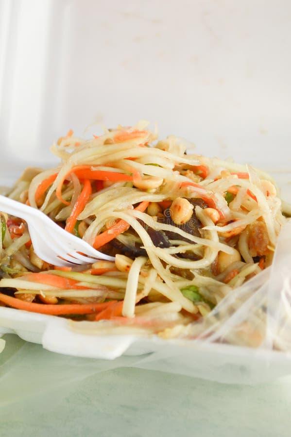 Salade verte de papaye images libres de droits