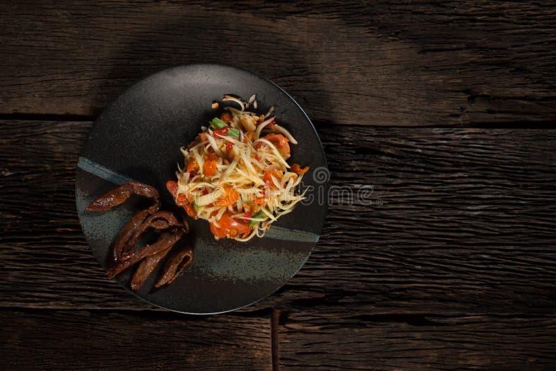 Salade verte de papaye photographie stock