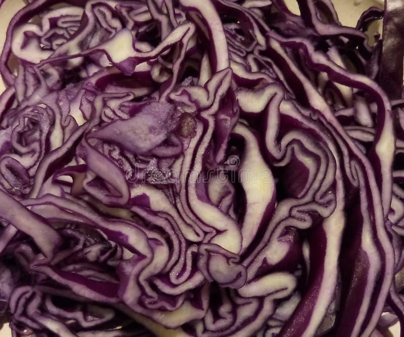 Salade violet de chou pour le vegan végétarien, nourriture crue photographie stock