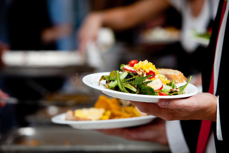 Salade Wedding de buffet image stock