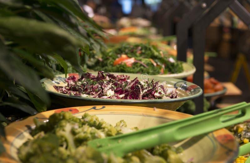 Saladebar royalty-vrije stock afbeelding