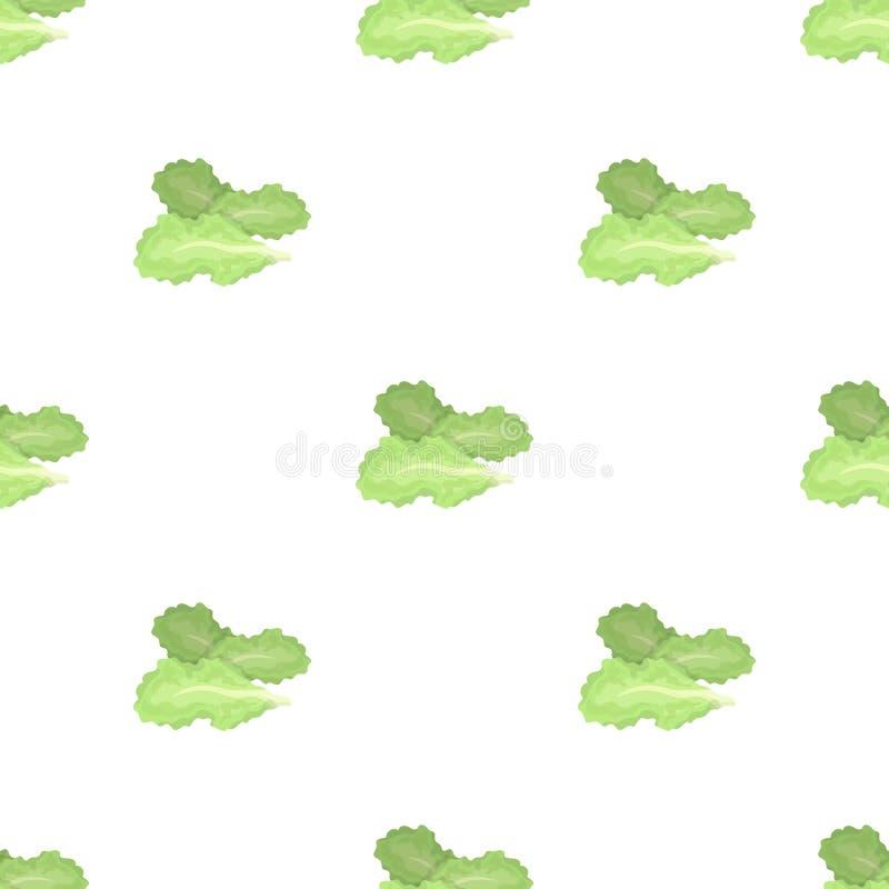 Saladebladeren Burgers en de ingrediënten kiezen pictogram in illustratie van de het symboolvoorraad van de beeldverhaalstijl de  royalty-vrije illustratie