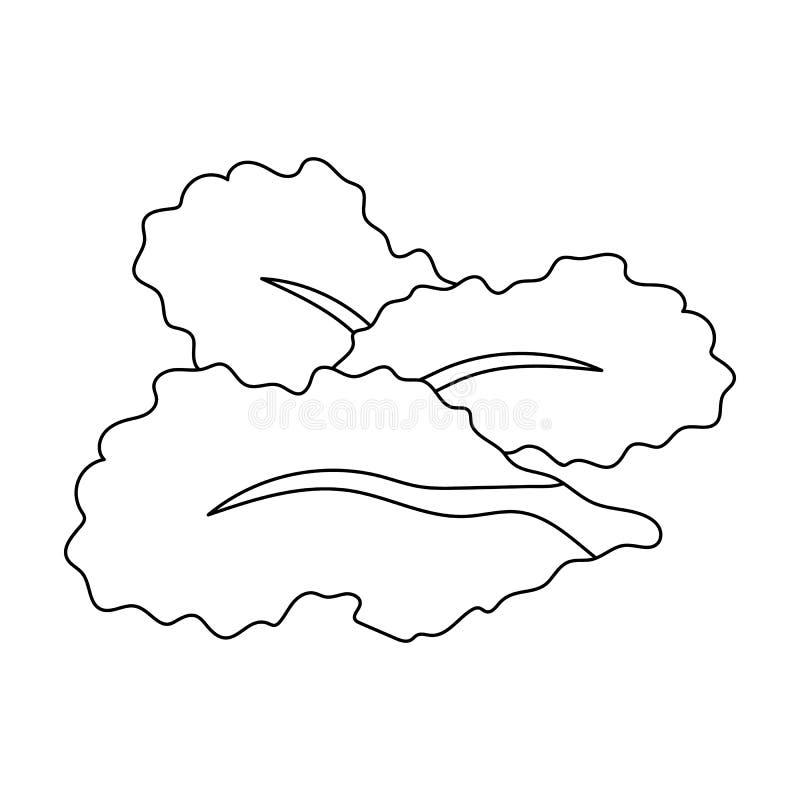 Saladebladeren Burgers en de ingrediënten kiezen pictogram in illustratie van de het symboolvoorraad van de overzichtsstijl de ve vector illustratie