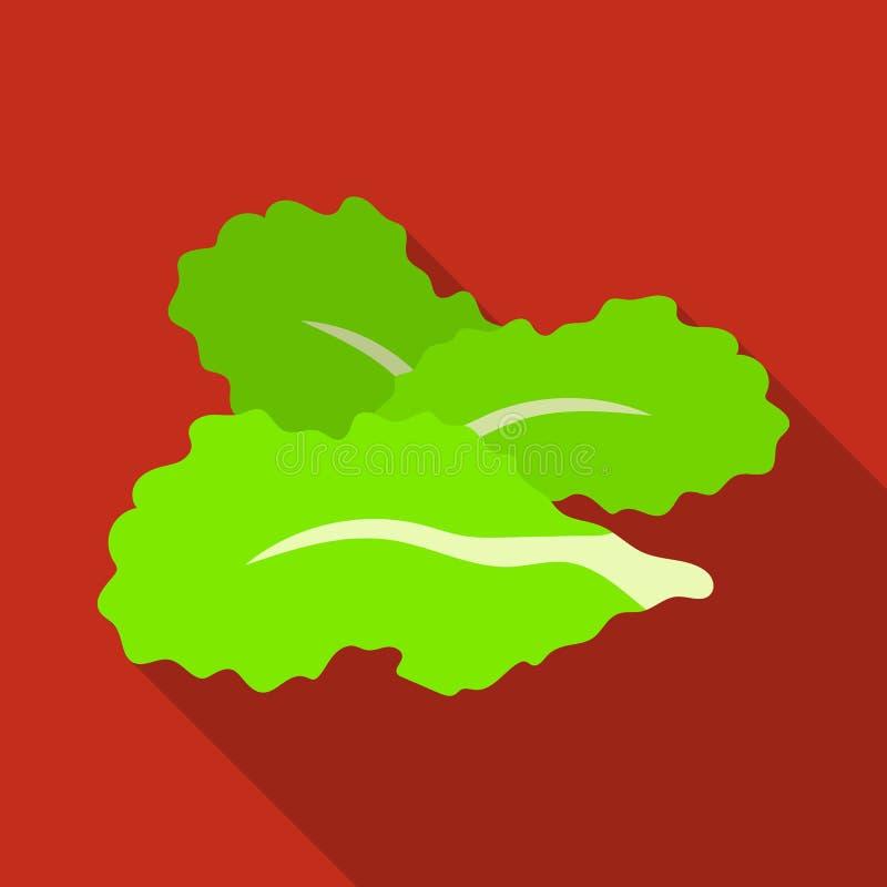 Saladebladeren Burgers en de ingrediënten kiezen pictogram in vlakke de voorraadillustratie van het stijl vectorsymbool uit vector illustratie